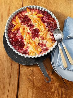 Rote Bete-Süßkartoffel Gratin mit Ingwer