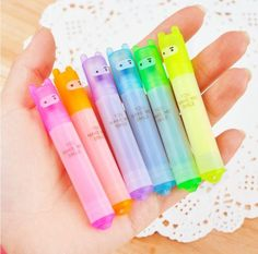 Kawaii Cute Funny Mini Ninja Rabbit Bunny Highlighter Pens Pack of 6 UK Seller | eBay