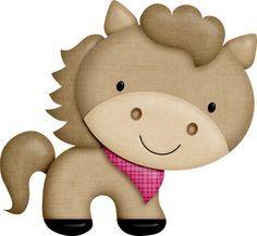 "Photo from album "":Barnyard Buddies:"" on Yandex. Farm Animal Party, Farm Party, Barnyard Animals, Felt Animals, Super Cute Animals, Cute Clipart, Cute Horses, Paper Tags, Cute Images"