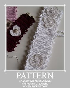 Crochet Headband Pattern--free pattern. From Microcknit Creations @ www.crocknit.com**
