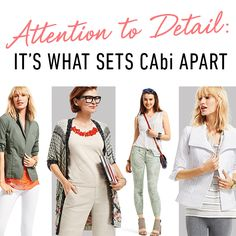 #CAbi - Details are what takes something from good to great.  Click to see the details that set the CAbi Spring 2015 collection apart.  #CAbiClothing
