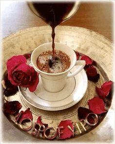 Good morning it's coffee time ~. Coffee Gif, Coffee Latte Art, I Love Coffee, Coffee Break, Coffee Cups, Black Coffee, Gif Café, Good Morning Coffee, Good Morning Gif