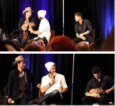 Misha and Icarus crashing the Jared & Jensen convention panel #DallasCon2013