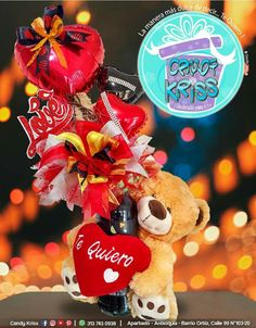Candy Bouquet Diy, Diy Bouquet, Beautiful Gifts, Balloons, Christmas Ornaments, Holiday Decor, Paper, Candy Arrangements, Table Arrangements