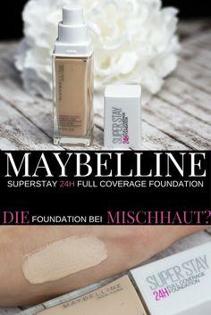 Maybelline Superstay 24H Full Coverage Foundation 003 True Ivory * Swatches und Erfahrungsbericht