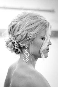beautiful romantic updo: Hair makeup by Allison Lenox at Eric Fisher Salon, Wichita KS Wedding Hair And Makeup, Bridal Hair, Hair Makeup, Romantic Updo, Elegant Updo, Up Styles, Hair Styles, Fairy Hair, Bridesmaid Hair