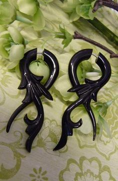 black bone horn earrings