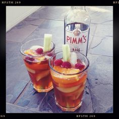 How to make a perfect Pimms Cup. (One of our very favorite warm weather cocktails.)