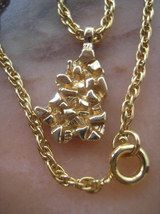 Gold Nugget Necklace Vintage SALE  #Jewelry @ovyee OBO best offers accepted