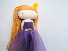 rapunzel rag doll - fairy tale princess doll cloth made to order. $34.00, via Etsy.