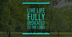 Are you living your life truly surrendered to the Lord?