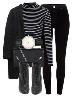College outfit. Outfit by laurenmboot ❤ liked on Polyvore featuring River Island, Topshop, Isabel Marant, Yves Saint Laurent, rag & bone and ROSEFIELD