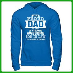 Hoodies I'm A Proud Dad Of A Freaking Awesome Son In Law Shirt T-shirt (Royal, S) - Relatives and family shirts (*Amazon Partner-Link)
