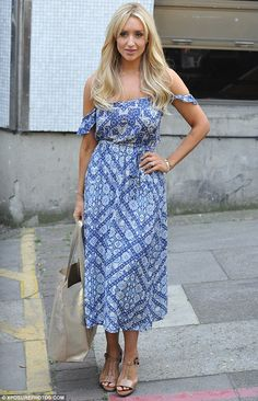 e2c2f2f53ef Catherine Tyldesley stuns in yellow sundress as she promotes single