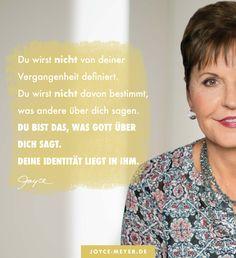 Joyce Meyer, Jesus Christus, Love Yourself First, Wedding Styles, Faith, Christian, Thoughts, Motivation, Words