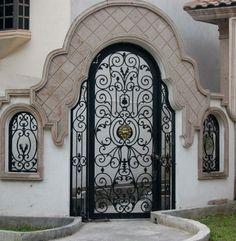 Paco | Manhattan Iron Door Co. #irondoors #custom #homedesign #wroughtiron