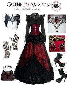 Dark Fashion, Gothic Fashion, Victorian Fashion, Victorian Goth, Vampire Dress, Cool Outfits, Fashion Outfits, Fasion, Alternative Outfits