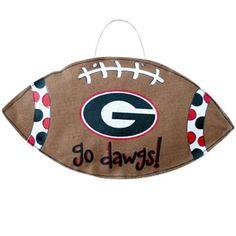 Georgia Bulldogs Football Burlee Wall Hanging