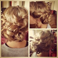Hair by Rosalie Usher and Gretchen Priddy! Just Pretend, Girly Girl, Hair Ideas, Wedding Hairstyles, Hair Makeup, Hair Beauty, Wedding Ideas, Friends, Nails