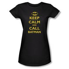 DC Comics Batman Call Batman Juniors Babydoll Superhero T-Shirt Tee @ niftywarehouse.com