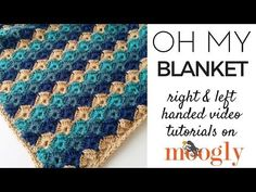 Mult of 8+2 How to Crochet: Oh My Blanket (Right Handed) - YouTube