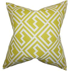 The Pillow Collection Ragnhild Geometric Pillow, Green