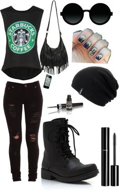 """Strollin' Solo Downtown"" by purpleweirdo on Polyvore"