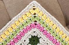 cluster burst afghan crochet border pattern
