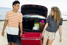 You can't have an awesome beach day without a cooler full of beach snacks. Your Civic agrees.