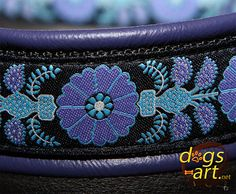 dogsart HEARTFLOWER Martingale Leather Collar  by dogsartcollars, $32.00