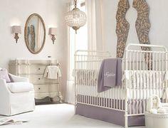 Soft Lavender Relaxing Baby Girl Room
