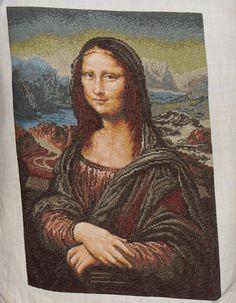 Finished vintage 1990's Wiehler Gobelin  Mona Lisa ($300/Serbia)