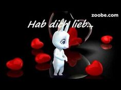 Hab dich lieb - so soll es sein, so kann es bleiben...,-) Love, Liebe, Freunde, Zoobe, Animation - YouTube