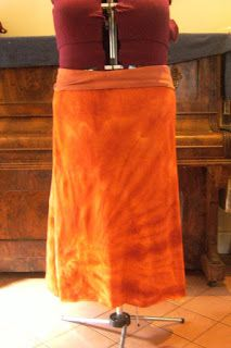 CRAFTY MAMAS: A-Line Knit Skirt with YOGA style waistband Tute
