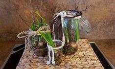 DIY Frühlingsdeko im Glas Natural Materials, Easter, Glass, Decorations