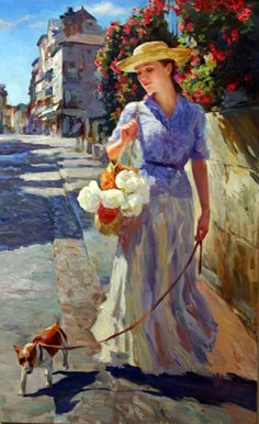 Vladimir Volegov A Walk in Sunshine painting for sale - Vladimir Volegov A Walk in Sunshine is handmade art reproduction; You can buy Vladimir Volegov A Walk in Sunshine painting on canvas or frame. Walking In Sunshine, Vladimir Volegov, Foto Art, Art Abstrait, Beautiful Paintings, Female Art, Painting & Drawing, Amazing Art, Art Photography