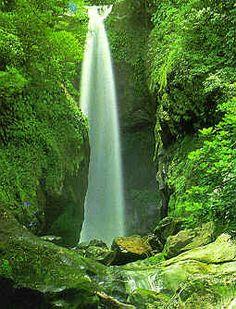 La Ceiba, Honduras, una de las muchas caídas de agua en Pico Bonito, estas alimentan el río Cangrejal
