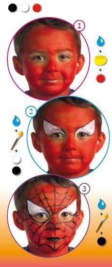 spiderman face painting for kids