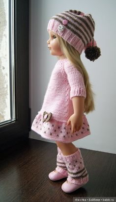 Discussion on LiveInternet - Russian Online Diary Service Knitting Dolls Clothes, Baby Doll Clothes, Crochet Doll Clothes, Knitted Dolls, Doll Clothes Patterns, Baby Dolls, Vestidos Bebe Crochet, Wellie Wishers Dolls, Gotz Dolls