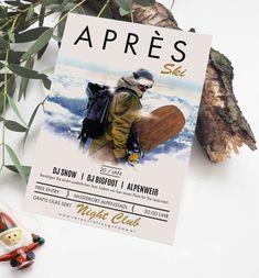 Feiere auch du deine Aprés Ski Party. Bestelle und gestalte deine individuell Aprés Ski - Vorlage. Wir von OnlineprintXXL helfen dir dabei. www.onlineprintXXL.com Apres Ski Party, Skiing, Free, Snow, Movie Posters, Flyer Printing, Templates, Ski, Film Poster