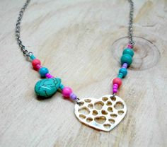 beaded chain necklace made by  Ana Maria Botero Lopez