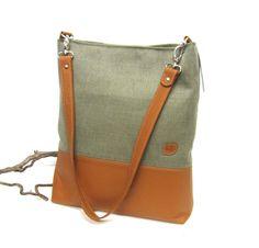 Schultertaschen - Schultertasche mit Leder - ein Designerstück von Irene-Kater bei DaWanda