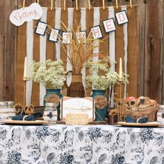 Country style bridal shower idea www.MadamPaloozaEmporium.com www.facebook.com/MadamPalooza