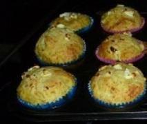 Pumpkin, bacon and fetta muffins