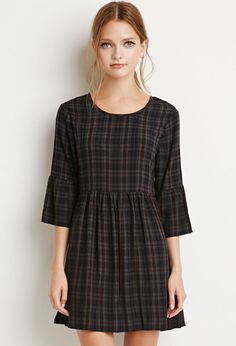 Plaid Babydoll Dress | Forever 21 - 2000142223