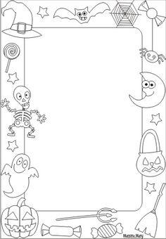 cornicette di halloween Theme Halloween, Halloween Decorations For Kids, Halloween Crafts For Toddlers, Halloween Party Games, Halloween Trees, Halloween Kids, Halloween Borders, Halloween Kitchen, Imprimibles Halloween