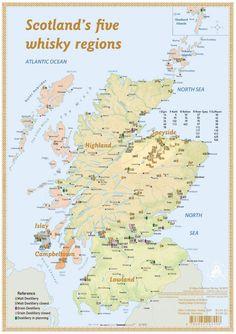Elements of Scotch - Tasting Map 34x24cm