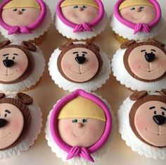 Resultado de imagen para cupcake masha e o urso