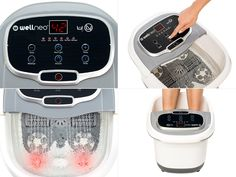 Dispozitiv de masaj al picioarelor, Wellneo 2 in 1 Foot Spa Wellneo