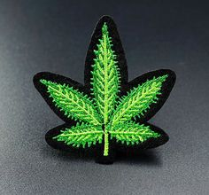 Cannabis Leaf Green Embroidered Iron On Sew On Patches Badges Transfers Patch Sew On Patches, Iron On Patches, Womens Luggage, Tactical Vest, Clothing Patches, Eco Friendly Fashion, Sewing Clothes, Outerwear Jackets